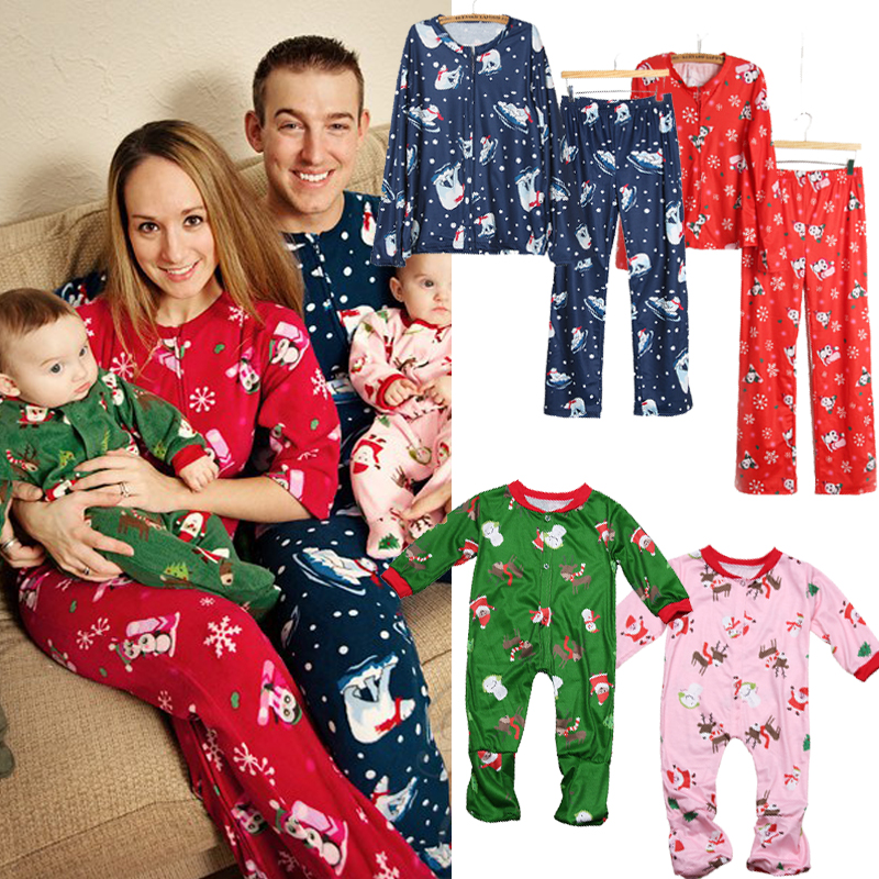 no l maman papa pyjamas haut et bas de no l famille nightwear christmas gifts ebay. Black Bedroom Furniture Sets. Home Design Ideas