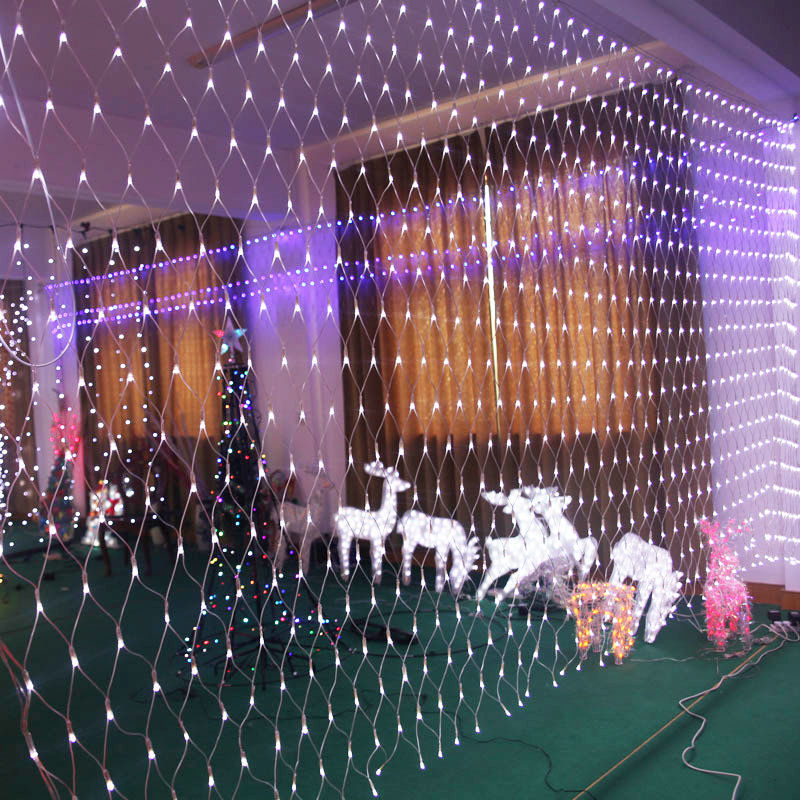 Drape String Lights Ceiling : 3M*2M Fairy String Net Curtain Mesh LED Xmas Party Ceiling Lights Outdoor Lamps eBay