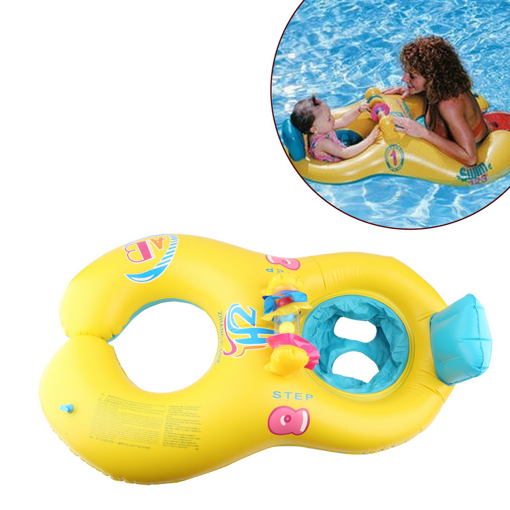 New Safe Swimming Ring for Baby Bath Neck Float Mother-child Play ...
