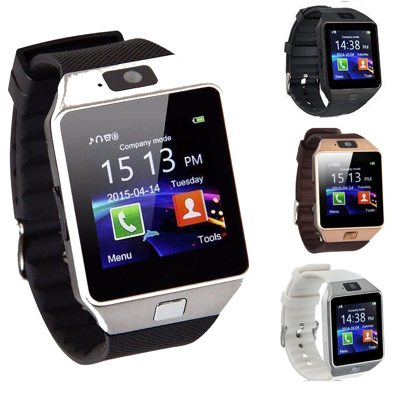 Bluetooth Smart Watch Upgrade Smartphone Call SMS Anti ...