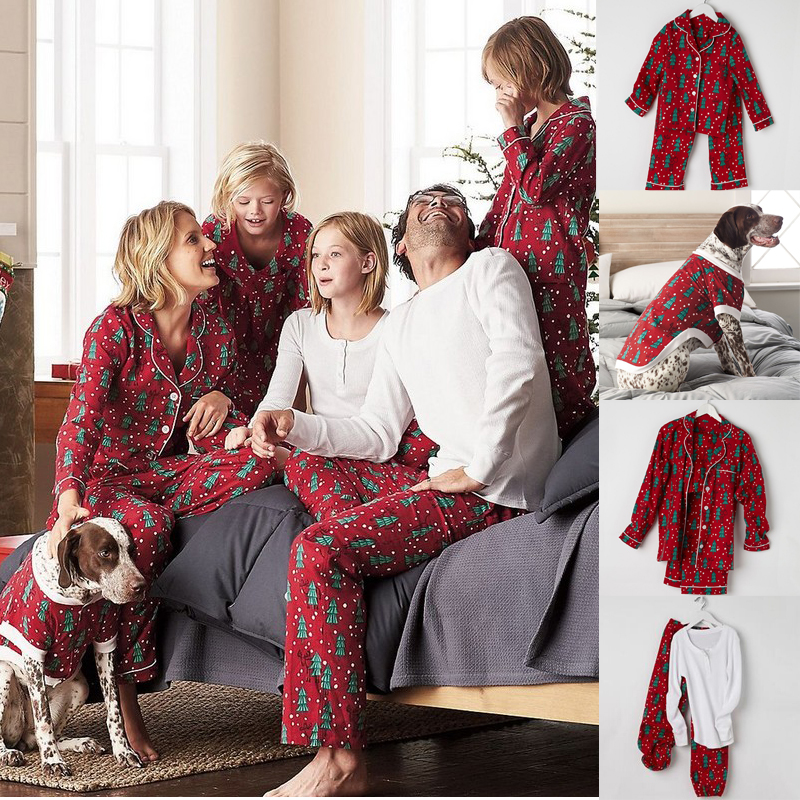 familie passende weihnachten pyjama set frauen baby. Black Bedroom Furniture Sets. Home Design Ideas