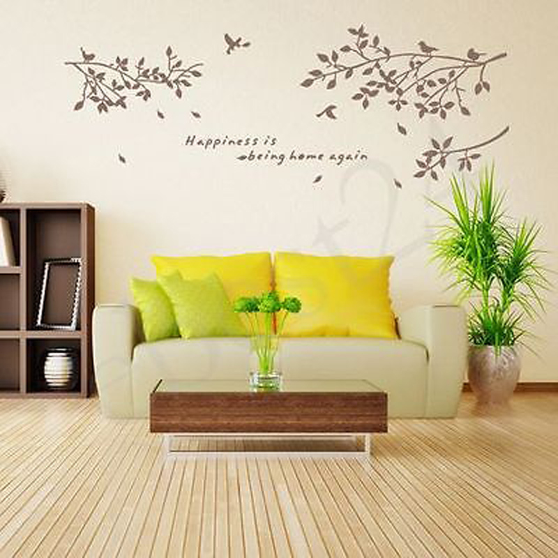 AU Quote Word Decal Tree Bird Home Room Decor DIY Mural Wall Sticker ...