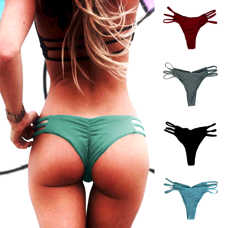 df07a50222 Details about Women Thong Cheeky Bikini Bottom Beachwear Brazilian Swimwear  Summer Fashion