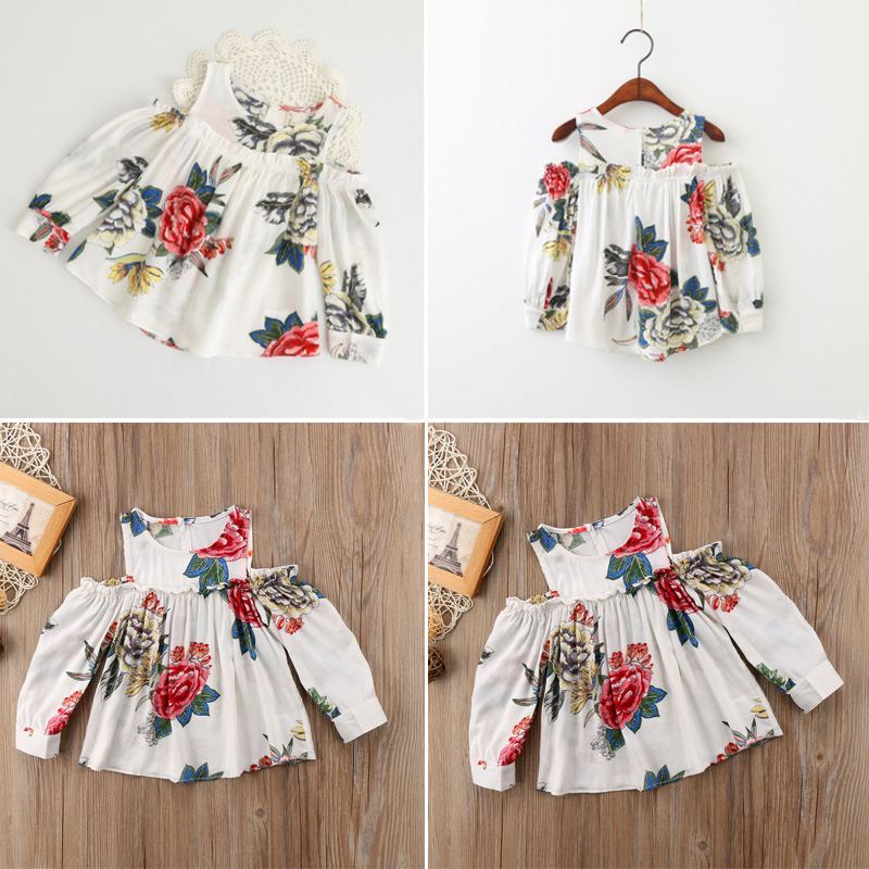 0e334fa8ba86 Details about Infant Baby Girl Birthday Clothes Floral Off shoulder Tutu  Dress Skirt One-Piece
