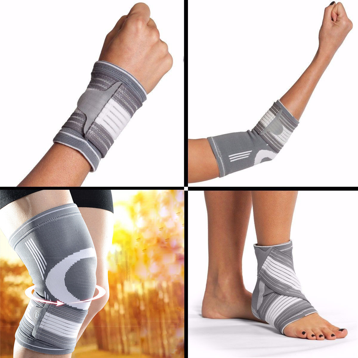 New Elastic Wrist Knee Ankle Elbow Arm Sports Bandage Brace Support