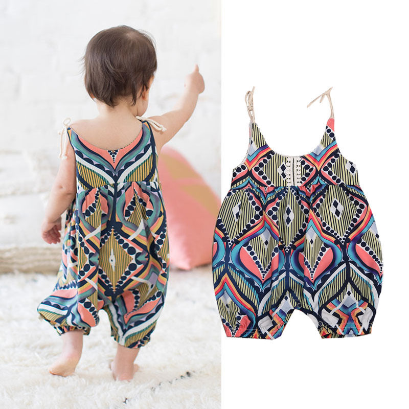80c0f2604594 Newborn Kids Baby Girl Floral Romper Jumpsuit Playsuit Clothes Outfits  Summer US