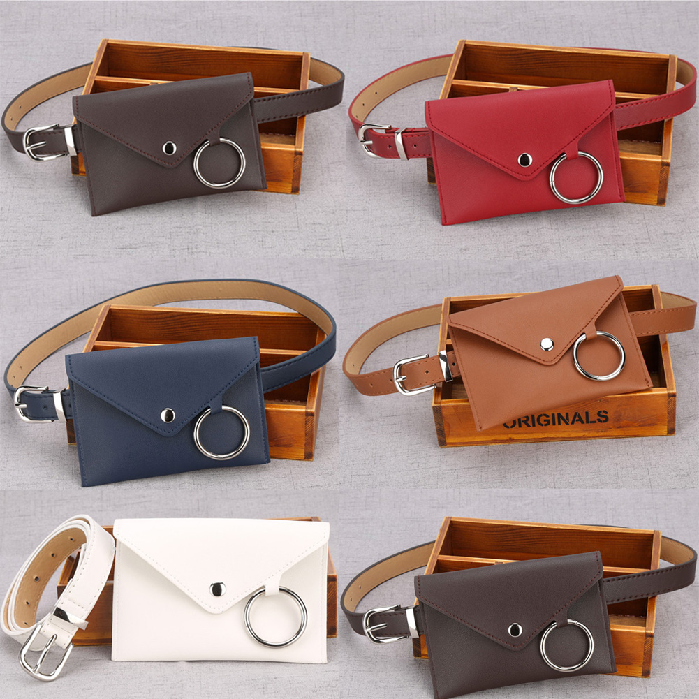 c59fa548b62 Details about Womens Waist Bag Fanny Pack PU Leather Bag Belt Purse Small  Purse Phone Pouch