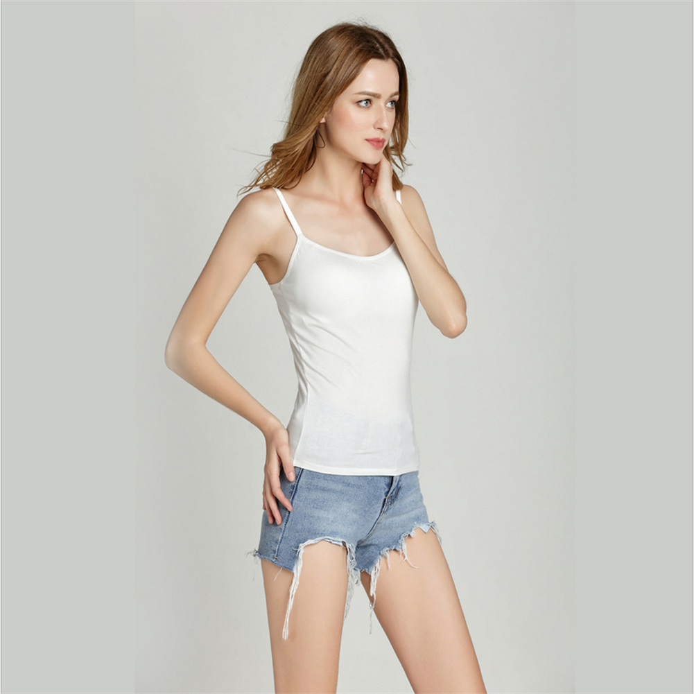 3f61e014606256 Details about Ladies Women Basic Spaghetti Strap Cami Camisole Tank Top  Layering Plain Colors