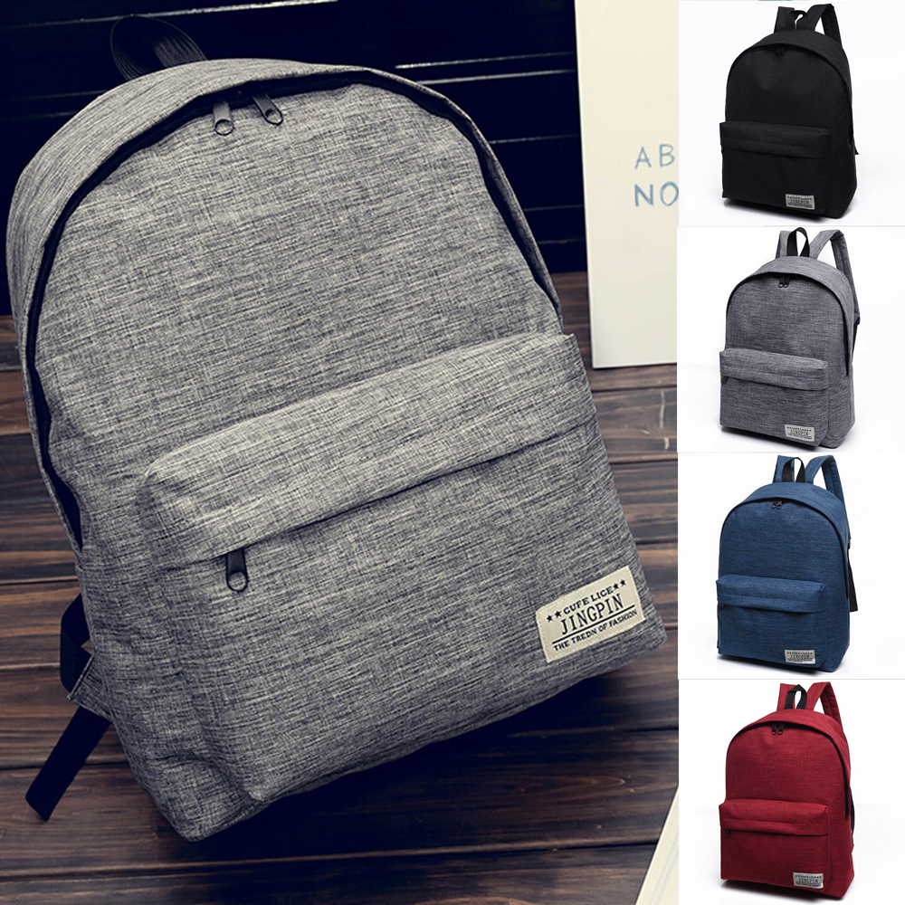 02f9413bbd99 Details about Fashion Men Women Travel Canvas Backpack Rucksack Camping  Hiking School Book Bag