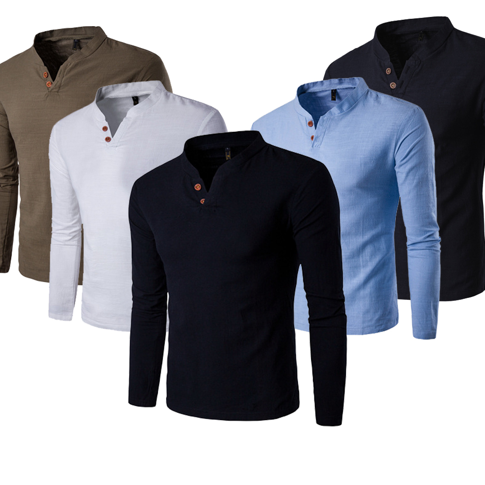 ae038fc7f00aba Details about Fashion Men's Slim Fit Casual Long Sleeve Polo Shirt T-shirt  Tee New Tops Blouse