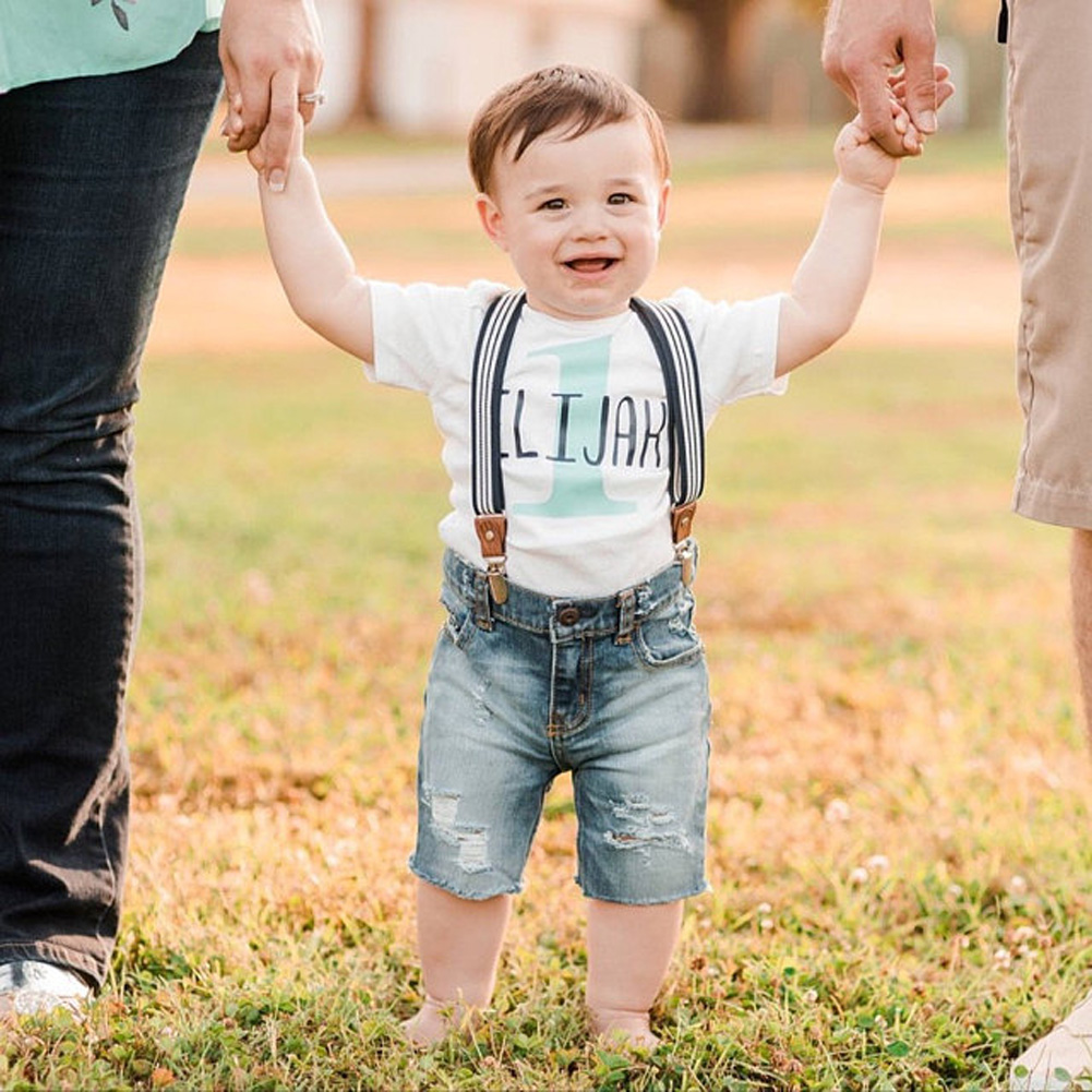 b2a10ca90 Details about USA STOCK Toddler Newborn Baby Boy Suspender Pants Trousers  Bib Overalls Outfits