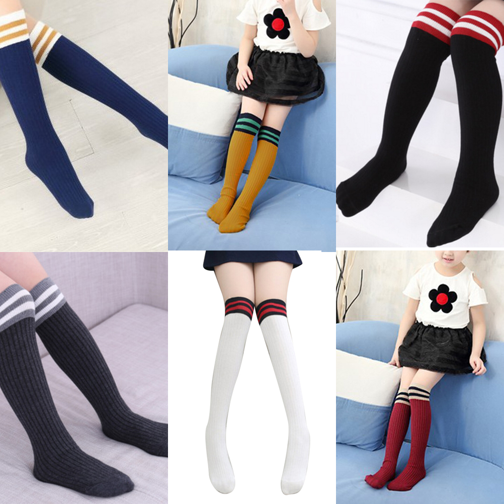 b1f97e141 Details about Baby Kids Toddlers Girls Knee High Socks Tights Leg Warmer  Stockings For Age3-11