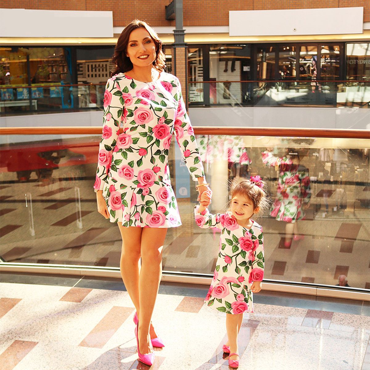 6195ed6b574 Details about Family Dress Mother and Daughter Summer Floral Matching  Outfits Clothes Sundress