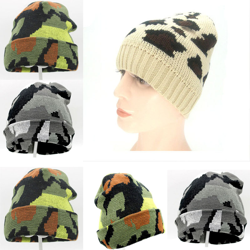70231c5856b Cap Unisex Men s Beanie Hat Embroidery Knit Night Cap Sleep Hip-Hop ...