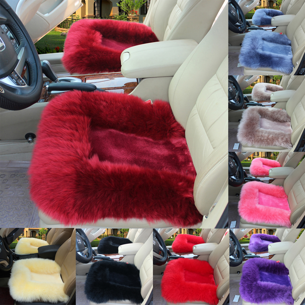 Universal Luxury Front Rear Seat Cover Fur Car Seat Cover