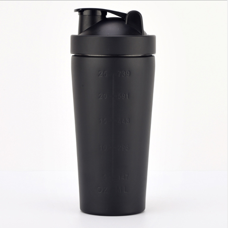 Protein Shaker Lid: Classic Stainless Steel Protein Shaker Bottle Pop Top