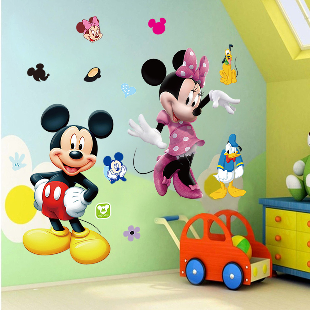 Mickey Mouse Minnie Vinyl Mural Wall Sticker Decals Kids Nursery Room Decor  WS 619730427591 | EBay