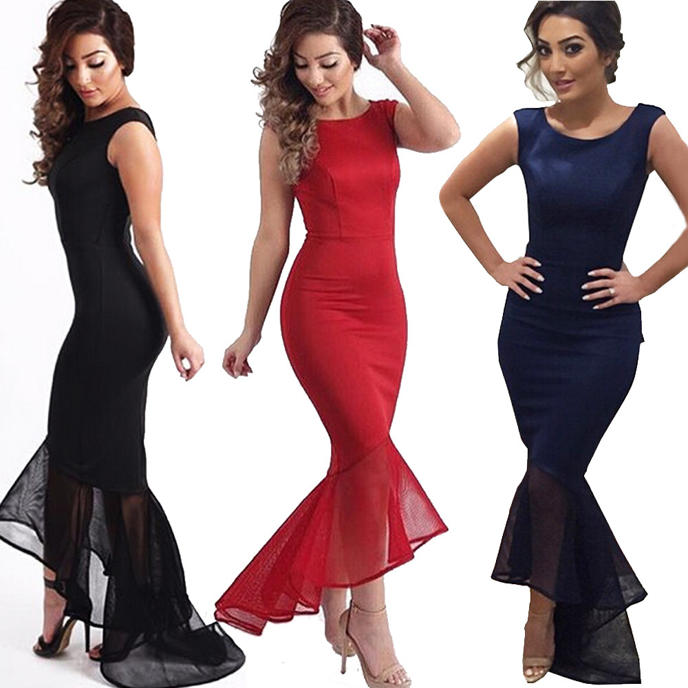 9fbec0f614 Women's Long Formal Prom Dress Cocktail Party Ball Gown Evening Wedding  Dresses   eBay