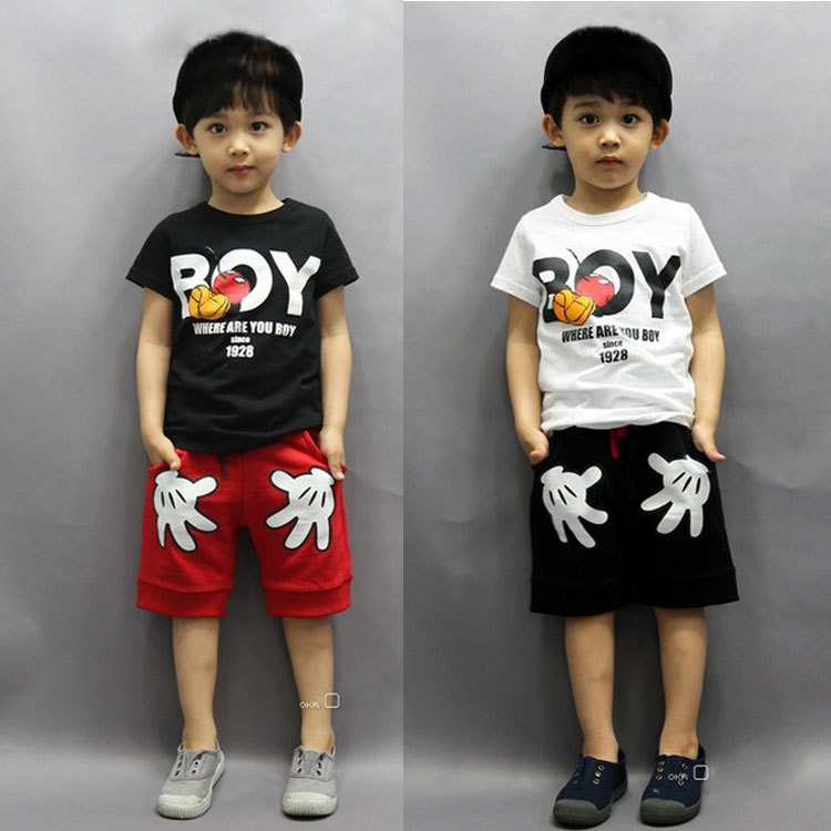 6a240248aaf0 Details about Mickey Mouse Kids Baby Boy T-shirt Tops+Shorts Pants Outfit  Toddler Clothes 2-7Y