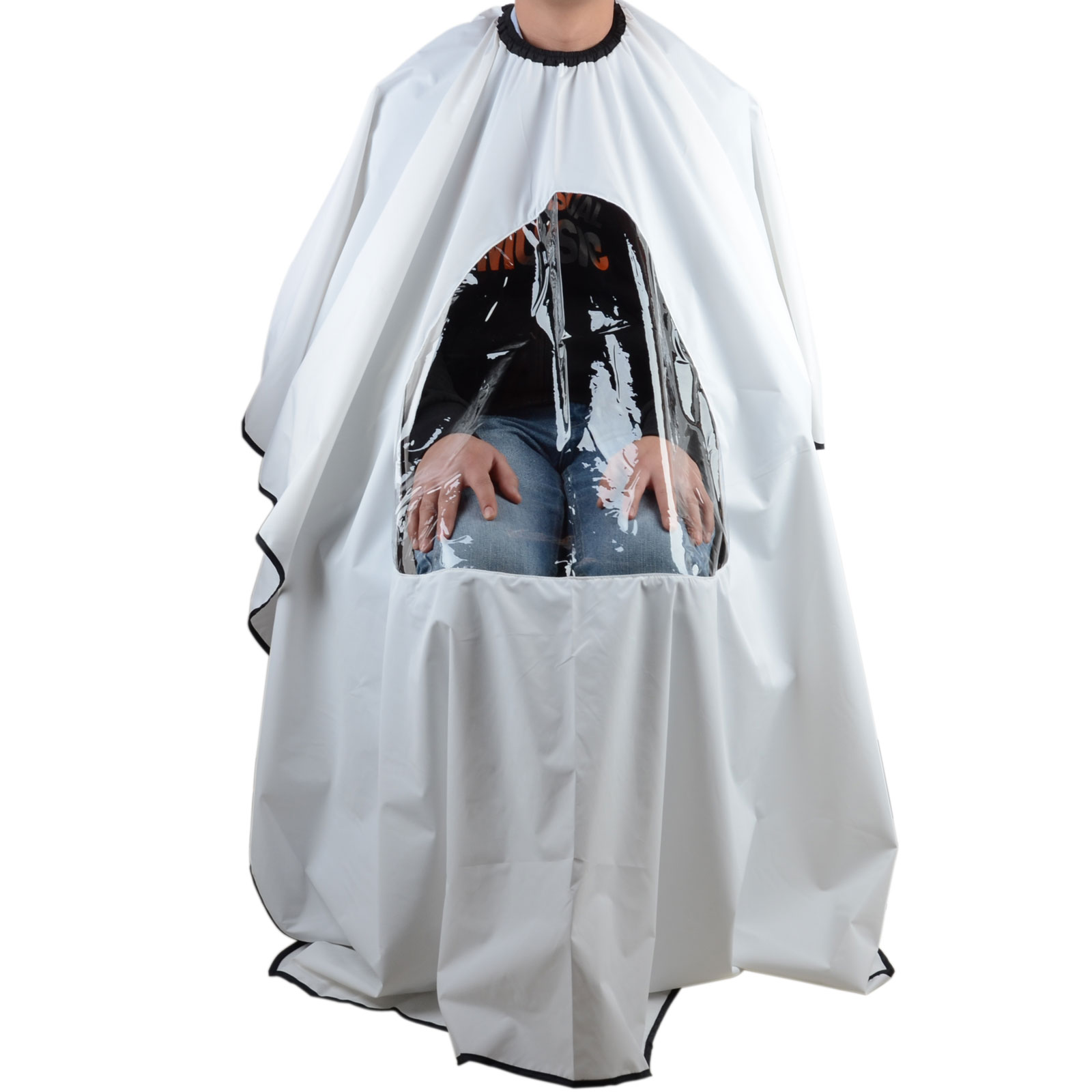 Details about Pro Salon Barber Hair Cutting Gown Cape With Viewing Window  Hairdresser Apron h