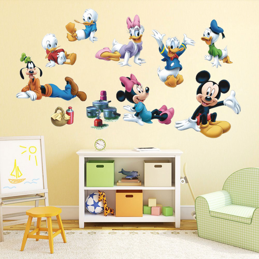 8 roles mickey mouse clubhouse large wall sticker pvc - Mickey mouse clubhouse bedroom decor ...