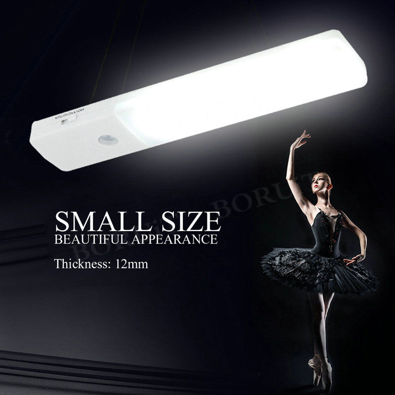 3w Led Car Light Linear Cabinet Under Cabinet Touch On Off: 6 LED USB Rechargeable PIR Motion Sensor Mini Ultrathin