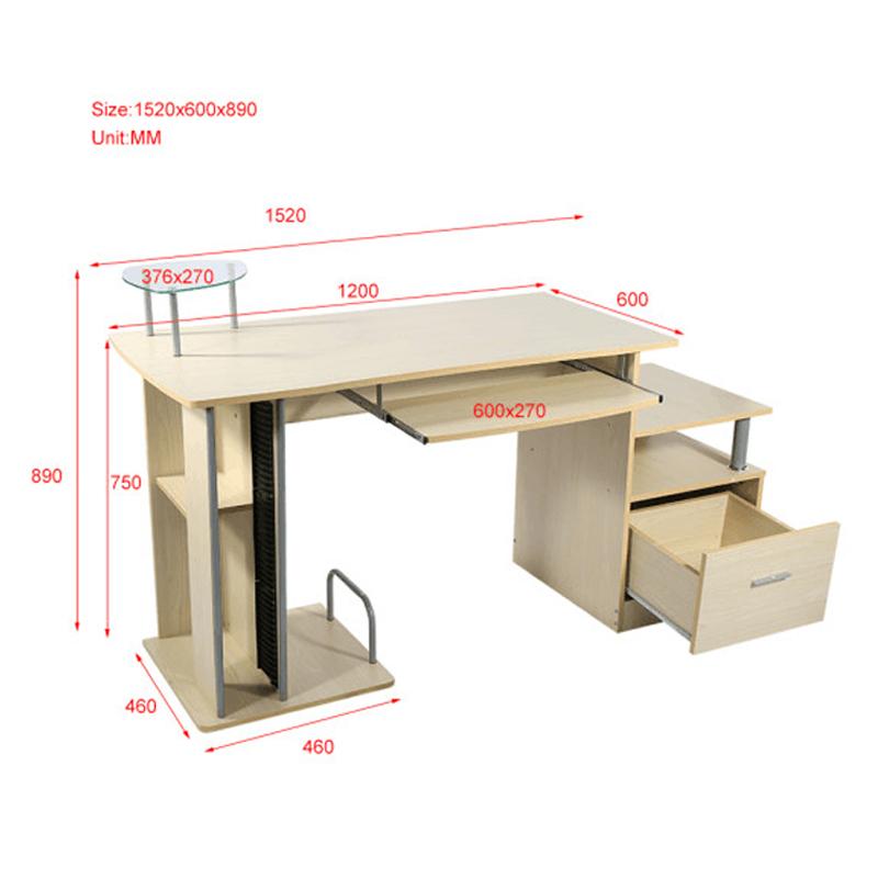 computertisch schreibtisch b rotisch arbeitstisch pc tisch winkel walnuss top ebay. Black Bedroom Furniture Sets. Home Design Ideas