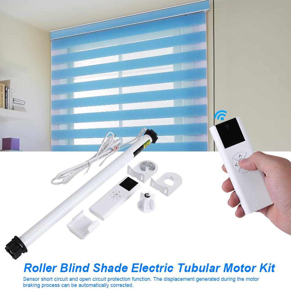 Roller blind shade electric tubular motor kit with remote for Roller shutter electric motors