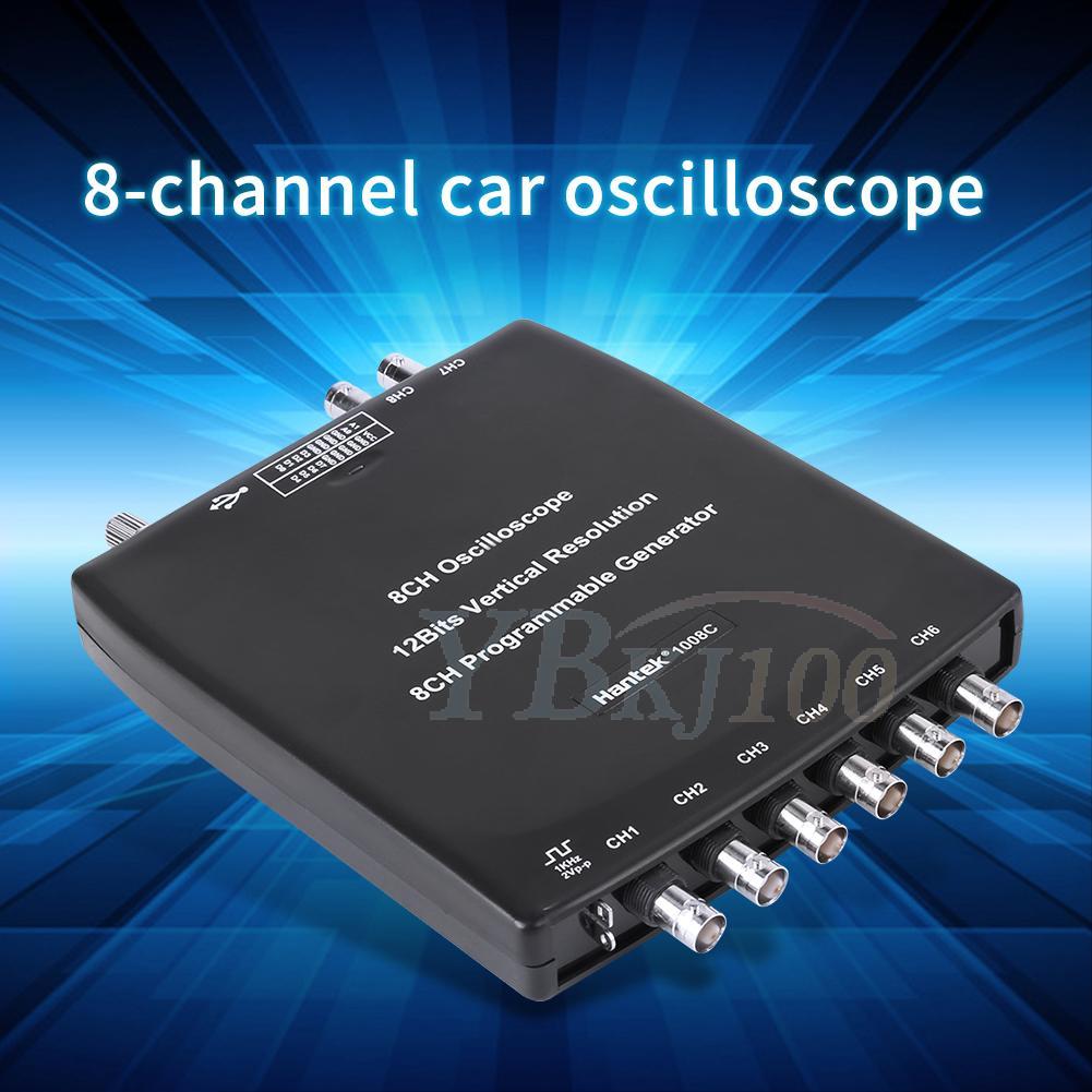 Hantek 1008C USB 8CH Automotive Diagnostic Oscilloscope