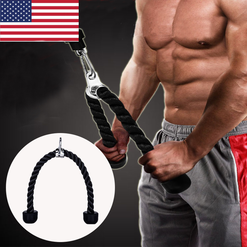 Arm Rope Tricep Multi Gym Cable Push Up Pull Down Press Bar ...