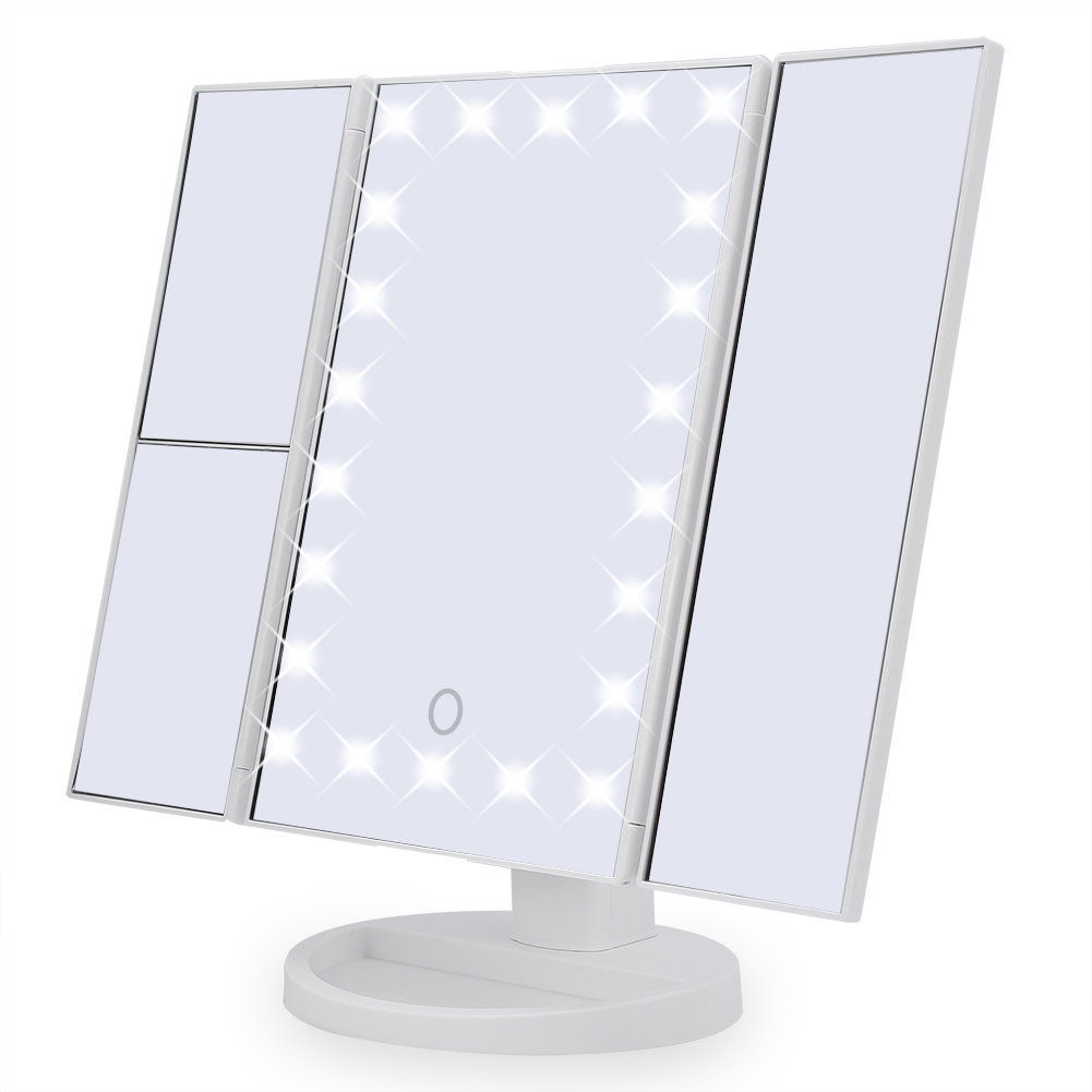 22 Led Touch Screen Makeup Mirror Tabletop Cosmetic Vanity