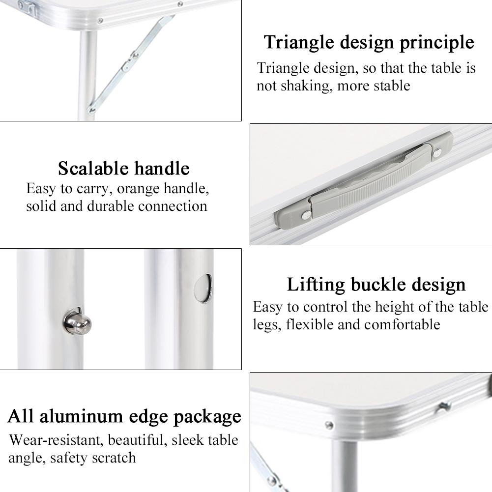 aluminium klapptisch laptoptisch esstisch picknick campingtisch 120 70 60cm neu ebay. Black Bedroom Furniture Sets. Home Design Ideas