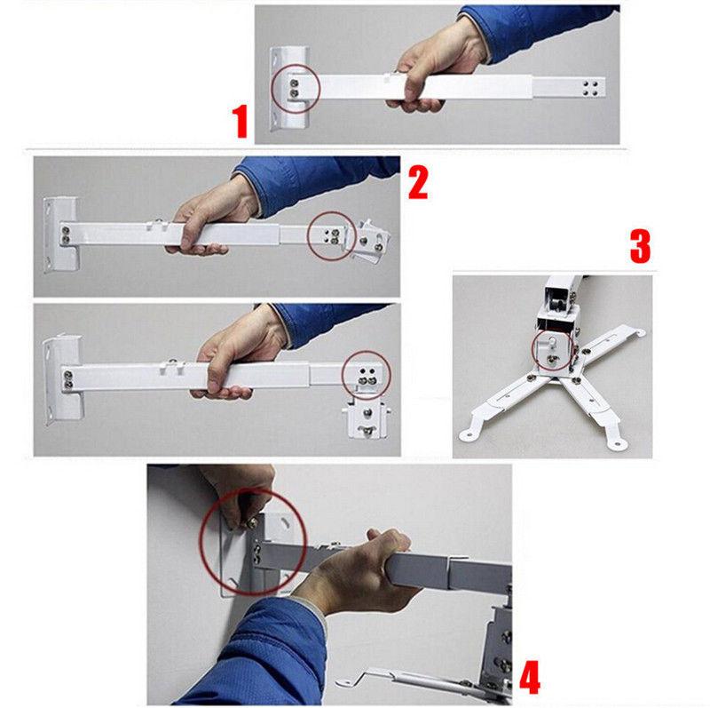 universal beamerhalterung projektor deckenhalterung wandmontage beamer halterung ebay. Black Bedroom Furniture Sets. Home Design Ideas