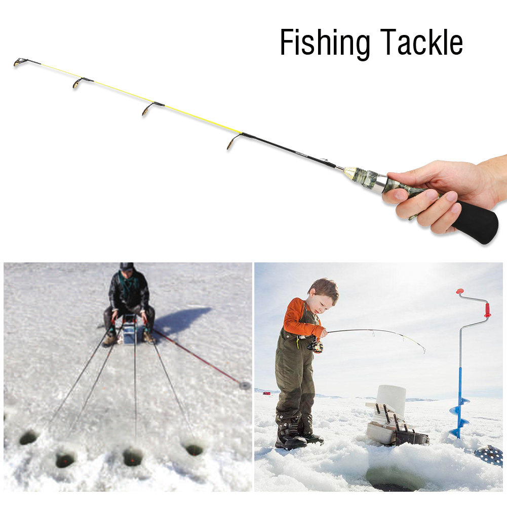 Mini 60cm ice fishing rods automatic fishing ice rods gun for Automatic fishing pole