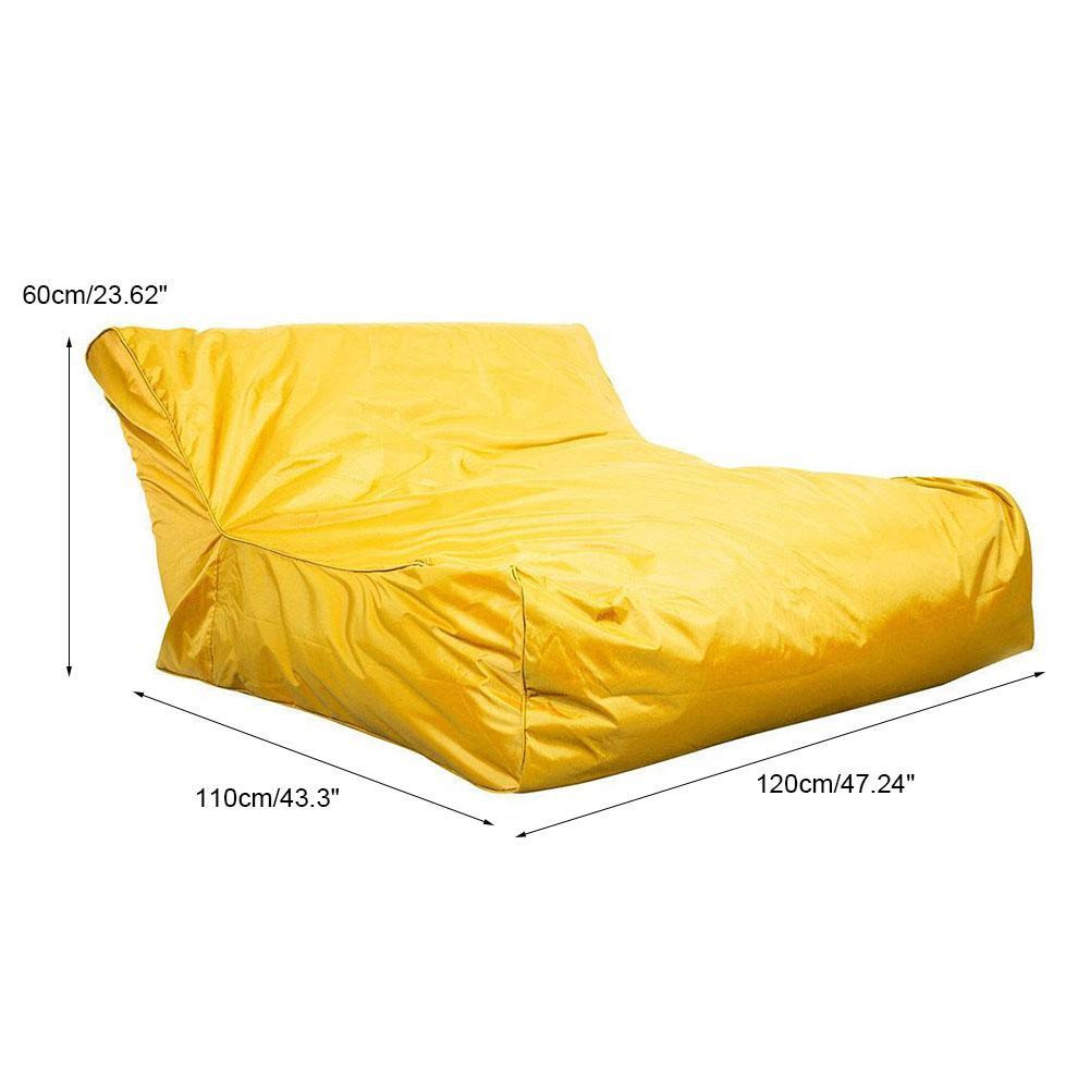 zweisitzer sitzsack sitzkissen lounge aufblasbar liegesack luftcouch luft bett a ebay. Black Bedroom Furniture Sets. Home Design Ideas