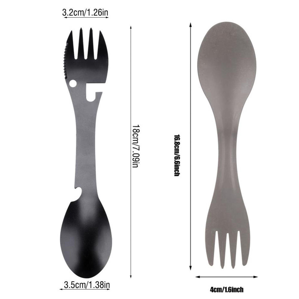 Stainless-Steel-Fork-Spoon-Bottle-Can-Opener-Camping-Utensil-Sawtooth-Cutter-CO thumbnail 20