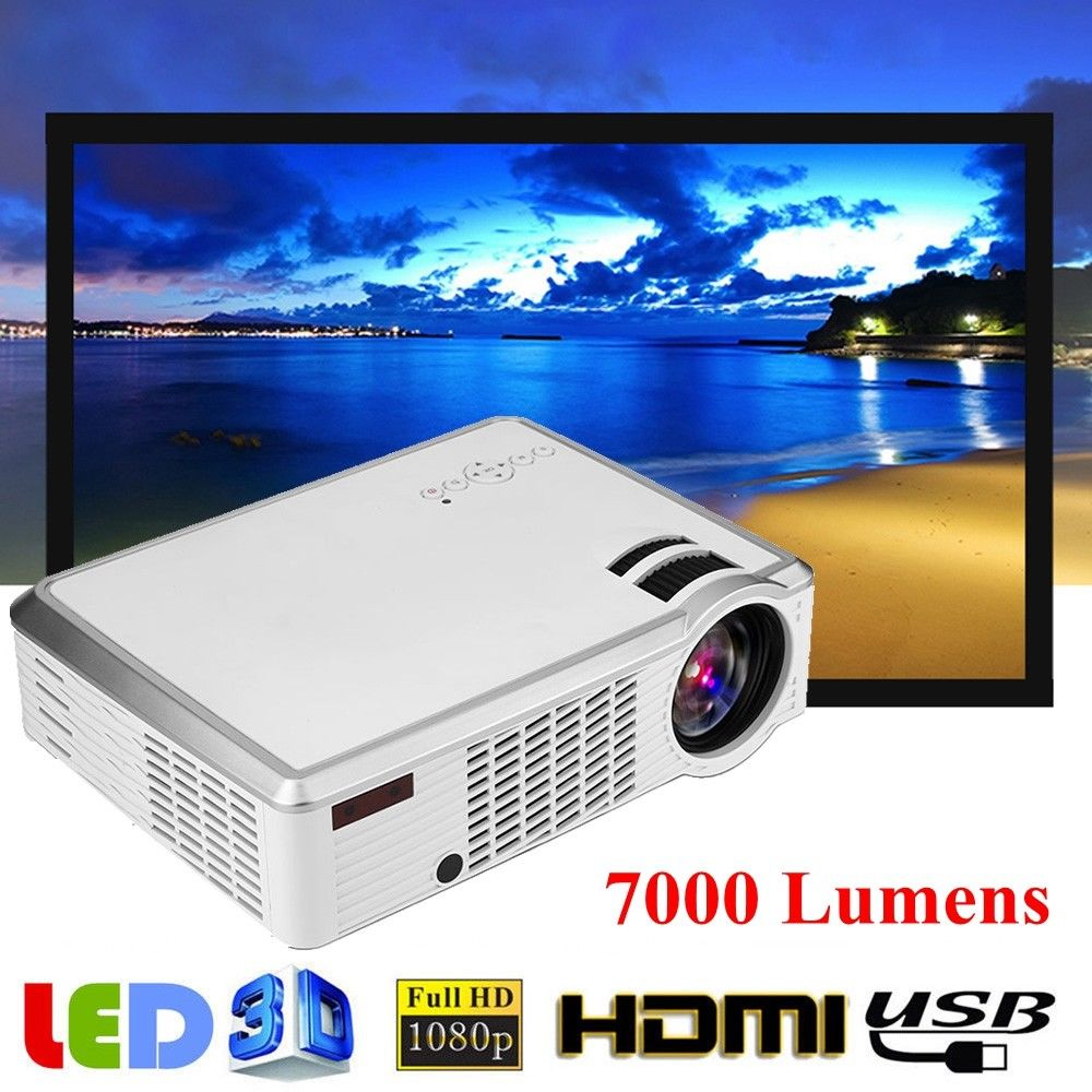 Mini 1080p Full Hd Led Projector Home Theater Cinema 3d: Full HD 1080P Mini Projector LED Multimedia Home Theater
