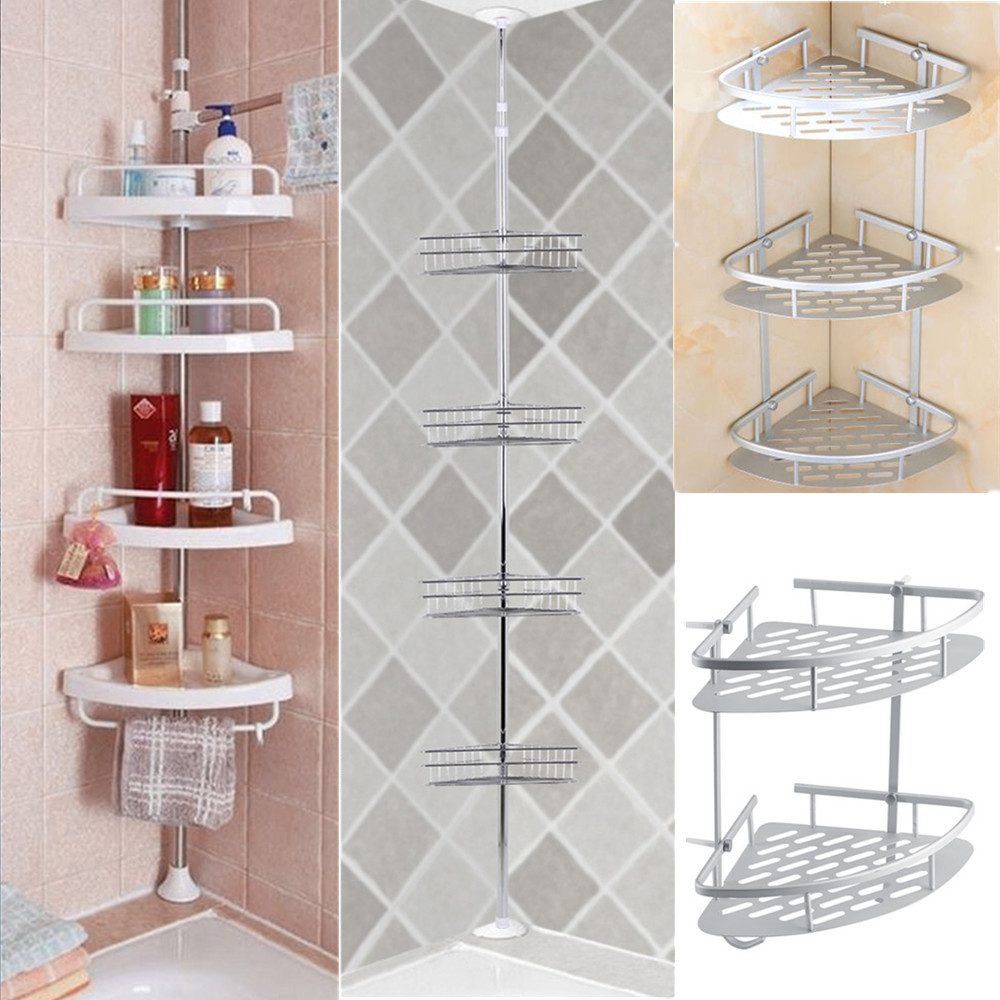 2/3/4 Layers Bathroom Bath Shower Caddy Shelf Wall Corner Rack ...