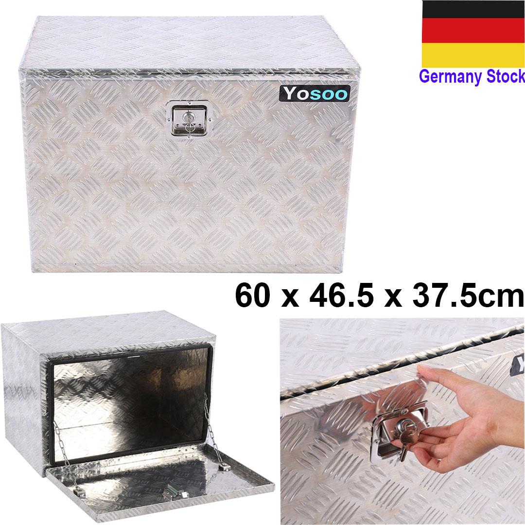 riffelblech alubox staubox deichselbox werkzeugkasten f r pkw anh nger 600x410mm ebay. Black Bedroom Furniture Sets. Home Design Ideas