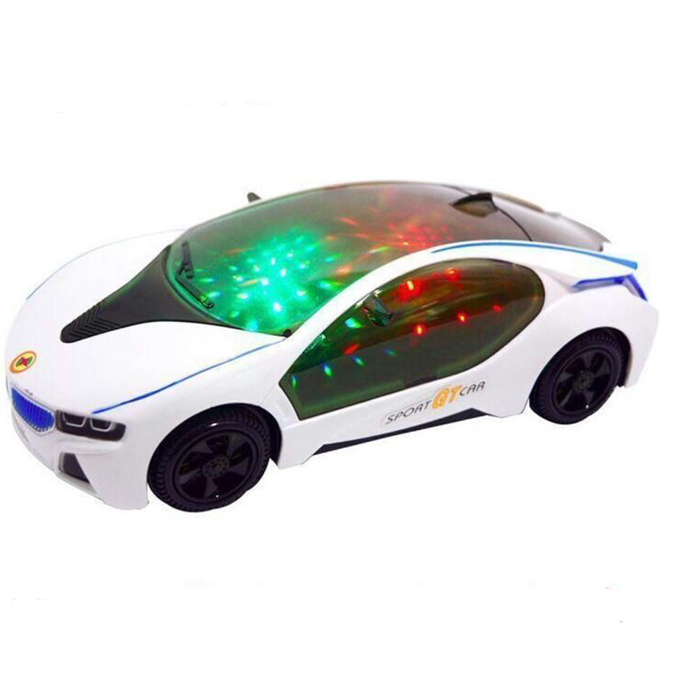 New Cool Car Flashing Led Light Music Sound Electric Toy Cars Kids