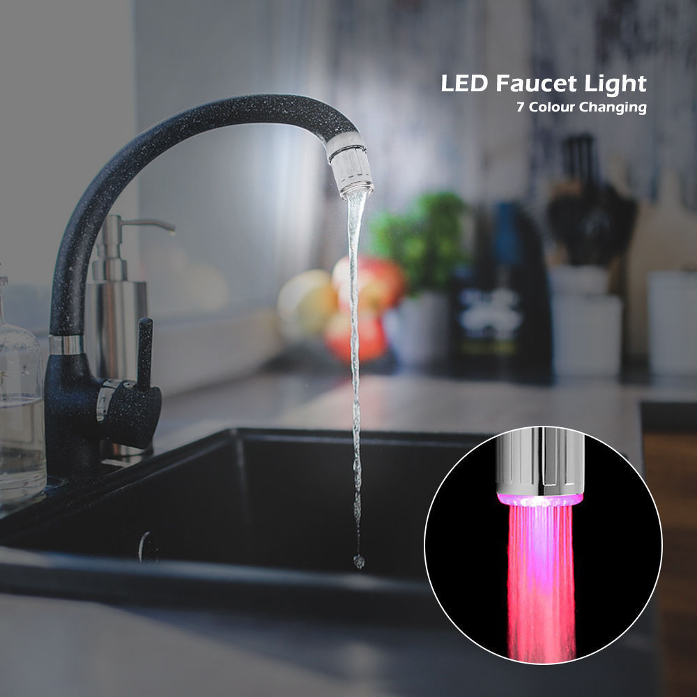 3 Color Temperature Sensor / 7 Colour Changing Led Tap Light Water ...