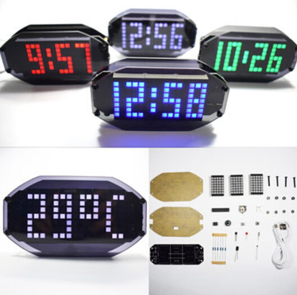 1 set 4 Bits LED Digital Elektronische Uhr C2051 DIY.Kit Clock J4L9 Produ Z6H9