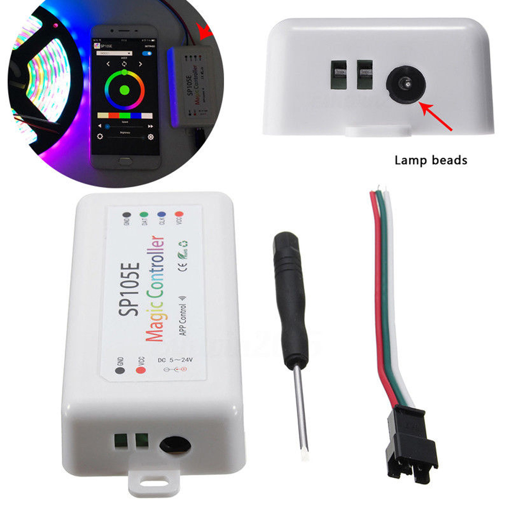 Sp105e Bluetooth Mobile Phone App Led Controller For Led