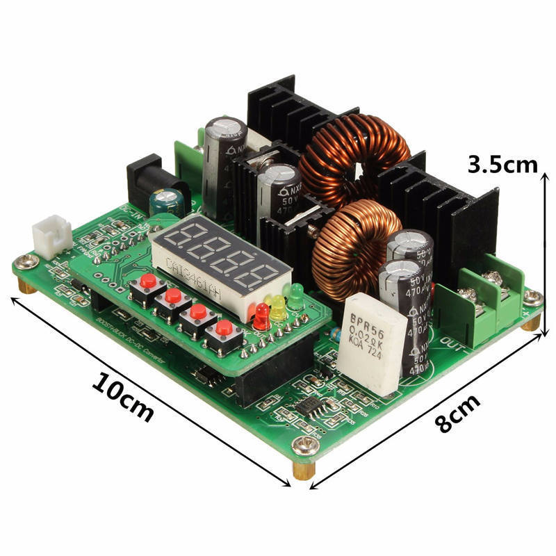 DC-DC-38V-Digital-Step-up-Step-down-Module-Boost-Buck-Converter-Solar-Charging thumbnail 2