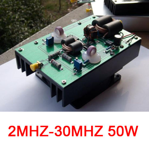 Details about 2MHZ-30MHZ 50w HF linear amplifier RF amplifier power  amplifier 13 56MHZ