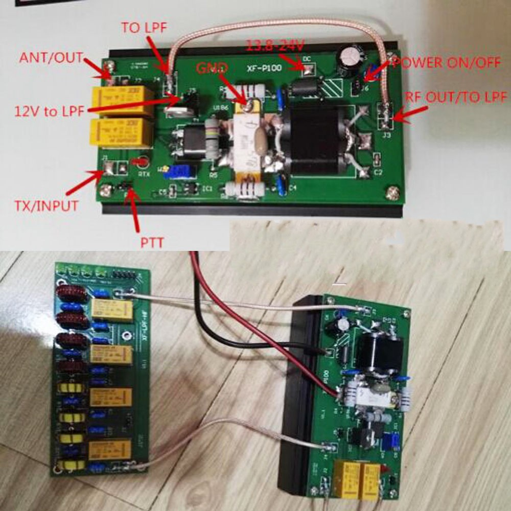 Details about 90W HF Power Amplifier + 100W 3 5Mhz-30Mhz LPF For FT-817  IC-703 KX3 Ham Radio