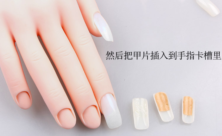 Soft Rubber Movable Practice Hand Nail Art Trainer Hand Acrylic Gel ...