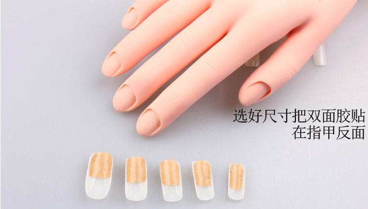 Movable Soft Rubber Practice Hand Nail Art Trainer Hand Acrylic Gel ...