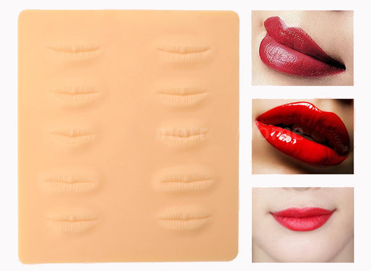 1Pc Permanent Makeup Lips Practice Skin Lip Mouth 3D Tattoo Training ...