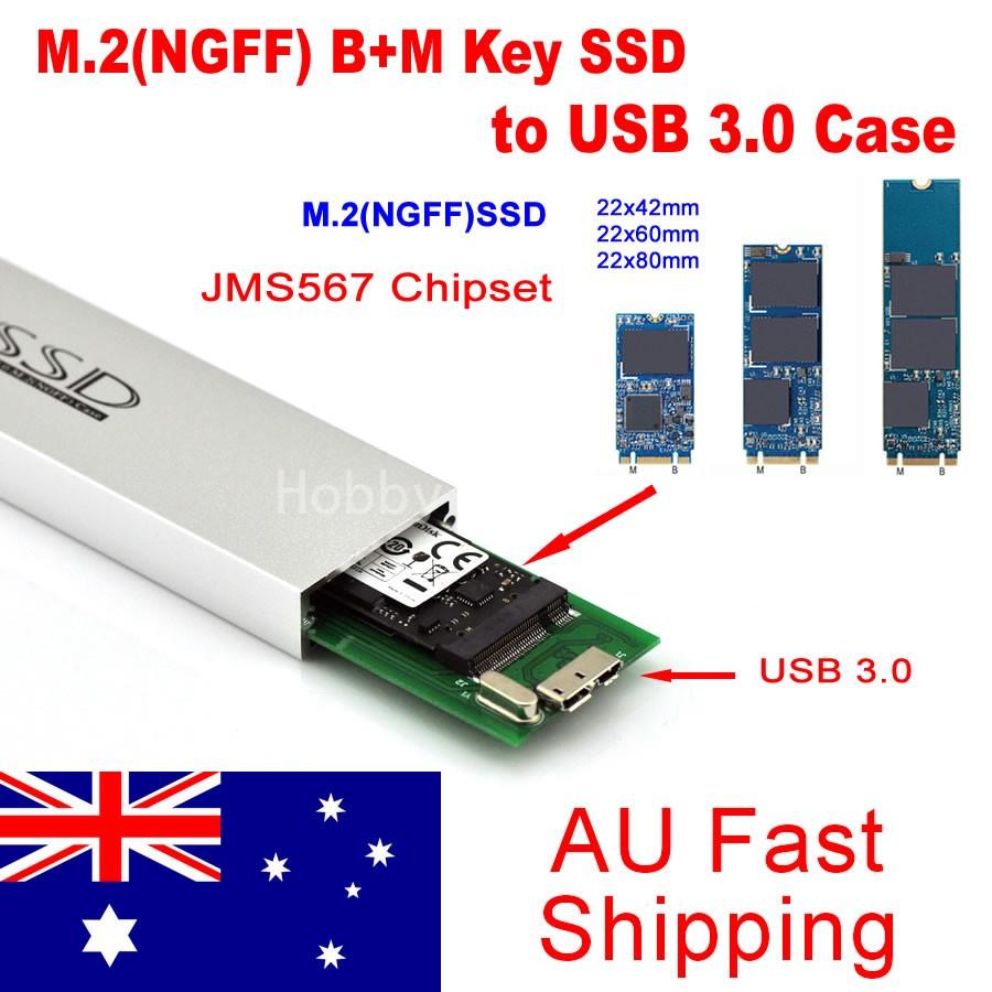 M 2 Ngff Sata Key B M Ssd To Usb 3 0 Converter Adapter